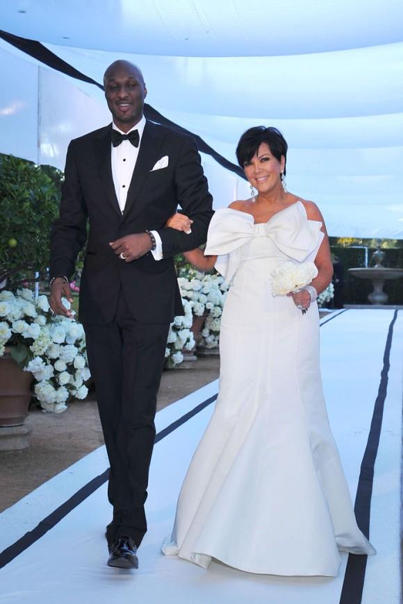 Lamar Odom Kris Jenner Kim Wedding 580 870