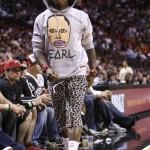 Weezy Wears Yeezy's Courtside at Heat vs. Hawks Game!