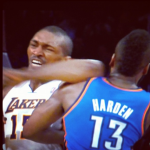 What A Cheap Shot!! Ron Artest Throws A Flagrant Elbow During Game