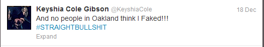 Keyshia Cole tweet three