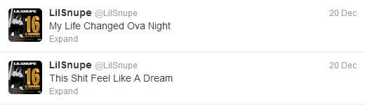 Lil Snupe Tweet 1