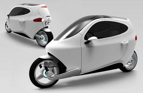 "Electric Motor Scooter >> Introducing The Future of Cars: The Amazing Electric ""Half ..."