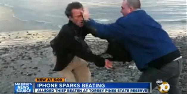 man fights person who stole his iphone