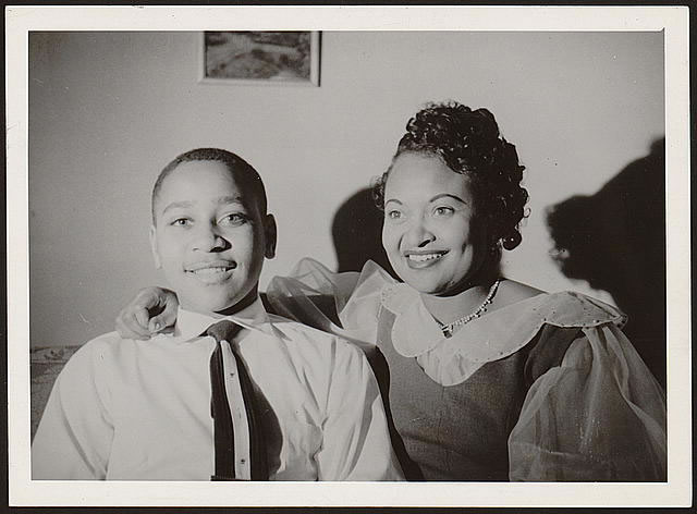 Emmett Till and his mother, Mamie Bradley, ca_ 1955_jpg