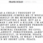 Frank Ocean Makes Statement About Fight With Chris Brown (All is Forgiven)!