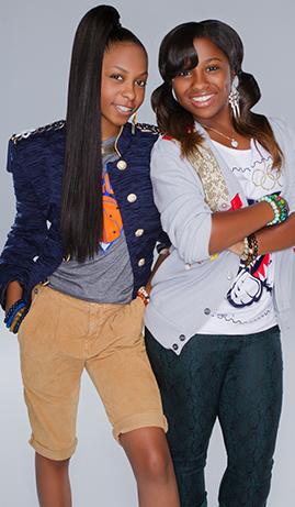 Bria Williams (L) and Reginae Carter