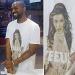 New Fashion Alert: Kanye West Yeezus Tour T-Shirt Featuring Kim Kardashian