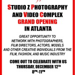Special Announcement: Studio Z Grand Opening Holiday Industry Event Today in Atlanta and You're Invited!!