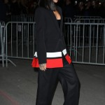 Fashion Queen! Rihanna Wears Riccardo Tisci X Nike AF1 Collabo At Givenchy Fashion Show