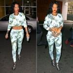 New Fashion Alert: Rihanna Wearing Zoe Karssen And Barbara Bui Metallic Mocassins