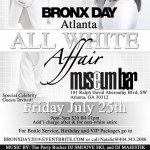 Special Announcement: The Official Bronx Day All White Affair in Atlanta