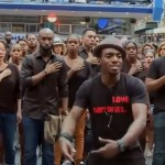 Broadway Stars Gather In Times Square To Send A Message About Police Violence & Eric Garner!