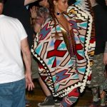 Rihanna Wears A Beaded Necklace As A Shirt at Coachella Weekend