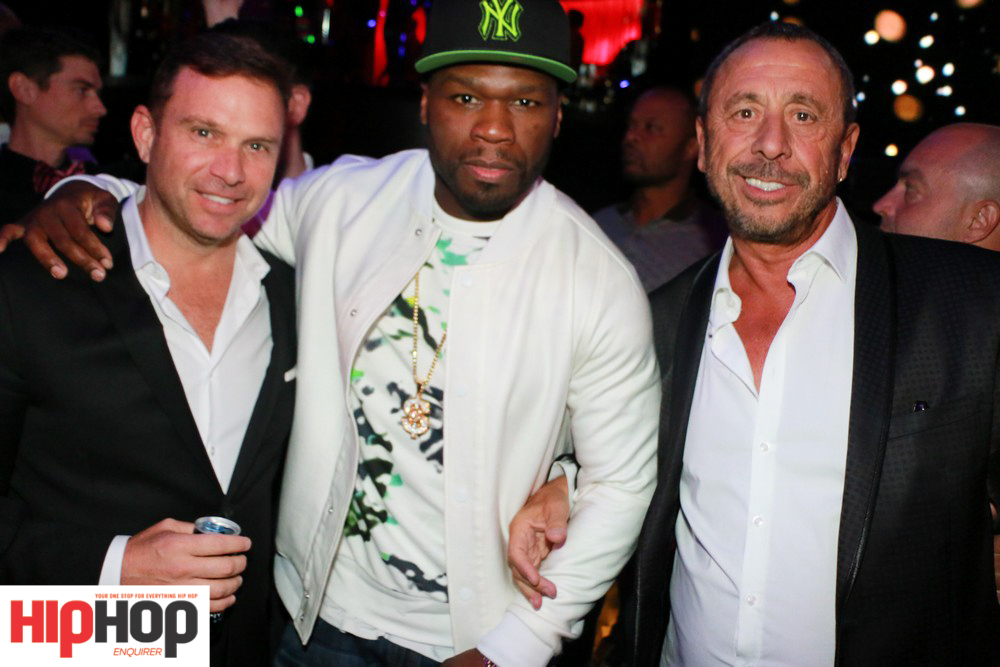 LtoR_Michael Gruber, 50 Cent and Victor Drai