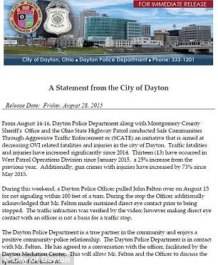 City of Dayton's Statement