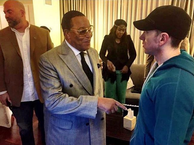 Minister Farrakhan with Eminem