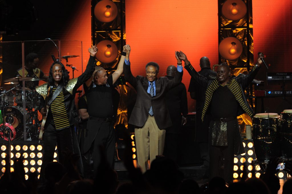 Ramsey Lewis, Earth Wind and Fire perform during the OWN At The Apollo Concert Series, held at the Apollo Theater in Harlem, New York, Wednesday, August 19, 2015. Photo by Jennifer Graylock-Oprah Winfrey Network