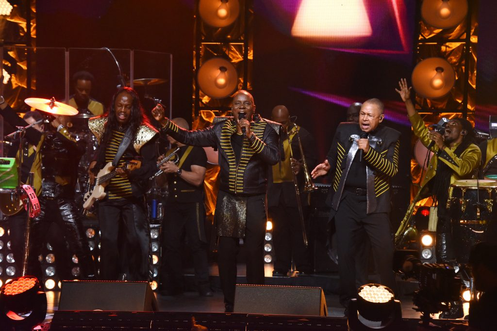 Earth Wind and Fire performs during the OWN At The Apollo Concert Series, held at the Apollo Theater in Harlem, New York, Wednesday, August 19, 2015. Photo by Jennifer Graylock-Oprah Winfrey Network