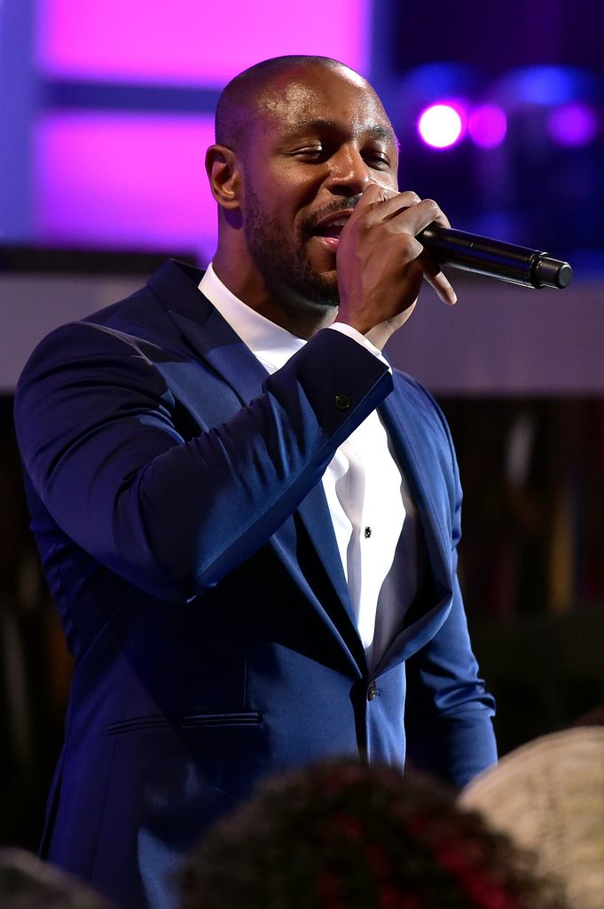 LAS VEGAS, NV - NOVEMBER 06: Recording artist Tank performs during the 2015 Soul Train Music Awards at the Orleans Arena on November 6, 2015 in Las Vegas, Nevada. (Photo by Paras Griffin/BET/Getty Images for BET)