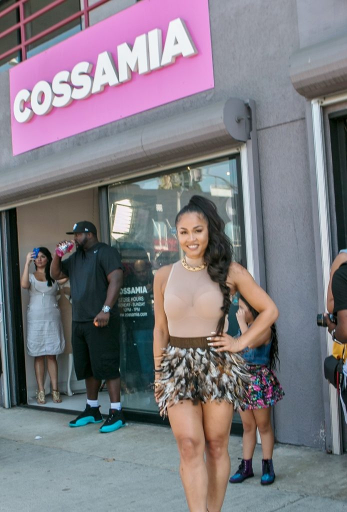 Rosa Acosta In Front Of Store