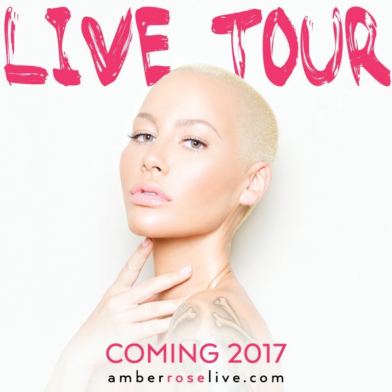 Amber Rose Tour Flyer